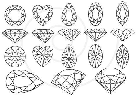 Home Design How To Get Free Gems by Diamonds And Gem Stones Digital Clip Art Set Jewels