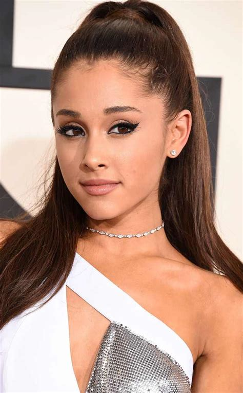 ariana grande finally takes out her signature ponytail