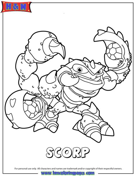skylander coloring pages to print coloring home