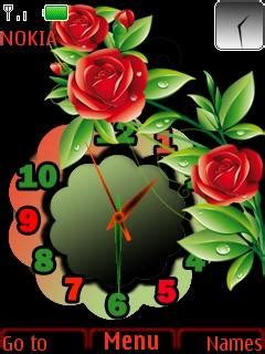 themes rose download download red rose clock nokia theme mobile toones