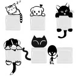 Home Design Outlet Center Reviews by Diy Funny Cute Cat Dog Switch Stickers Wall Stickers Home