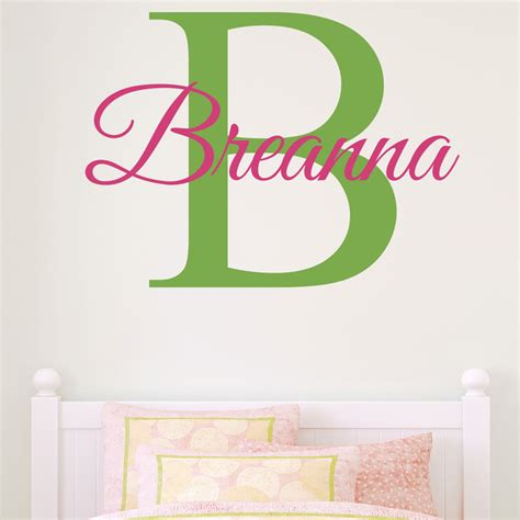 personal wall stickers name personalized wall decal by alphabet garden