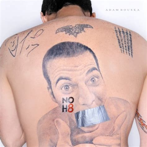 stevo back tattoo steve o for noh8 starzlife