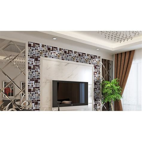 Decorative Kitchen Backsplash Tiles deluxe glass metal mosaic sheets brushed aluminum