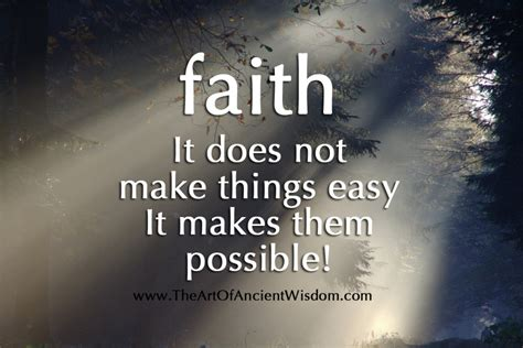 Does An Mba Make Getting Easier by Faith Does Not Make Things Easy It Makes Them Possible