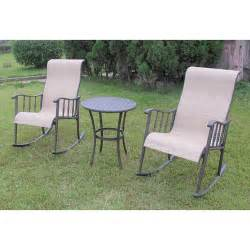Walmart Patio Furniture Clearance by Seville 3 Piece Rocking Bistro Set Patio Furniture