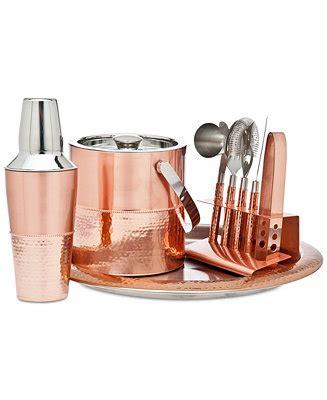 Copper Bar Accessories Godinger Copper Bar Tools Set Bar Accessories Dining
