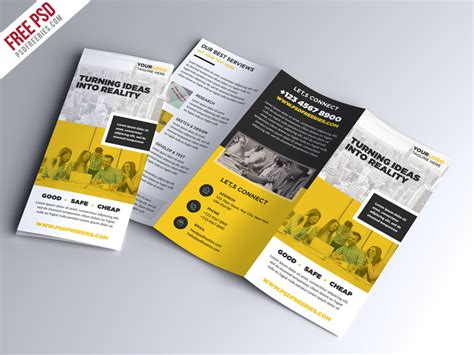 Brochure Trifold Template Psd by Multipurpose Tri Fold Brochure Psd Template Psdfreebies