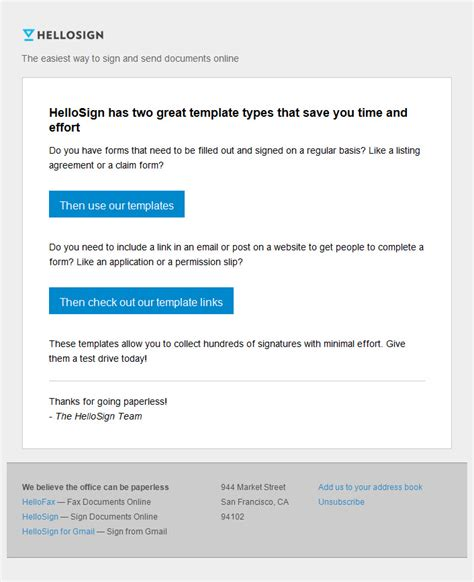 Onboarding Email Template hello sign onboarding email 1 email newsletter
