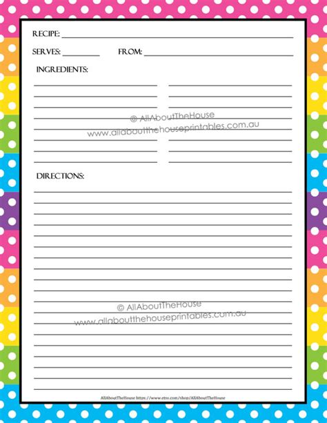Chef Recipe Card Template by Editable Printable Recipe Card Template Pdf Sheet
