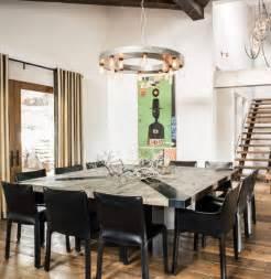 Dining Room Sets Miami Meubles Industriels En Bois M 233 Tal Et Cuir Un Chalet Ski