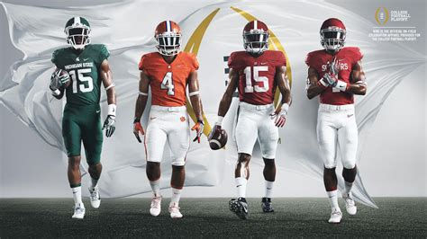 in color sacramento lineup nike reveals all 4 teams in 2015 college football playoff