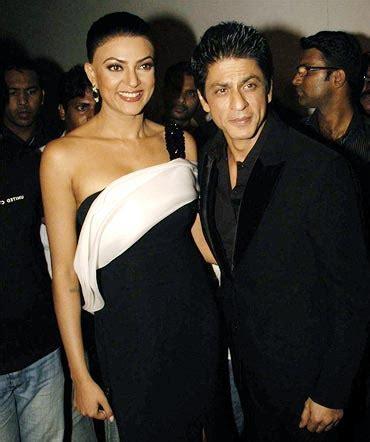 sushmita sen and shahrukh khan movie rubbing shoulders with srk sushmita rediff movies