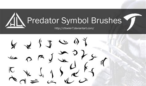 brushes predator symbol brushes by cfowler7 on deviantart