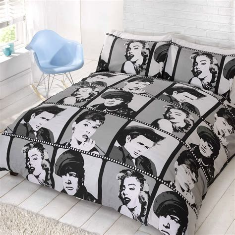 audrey hepburn bedding hollywood actors double duvet cover pillowcase marlon