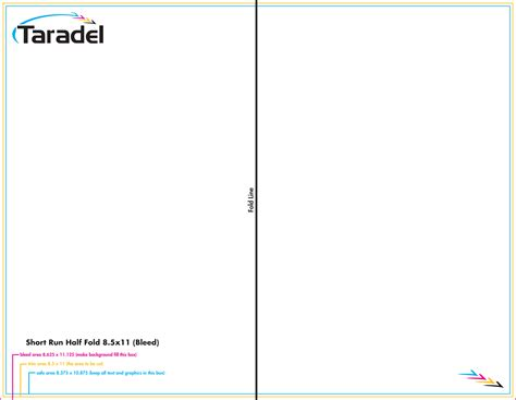 fold in half card template word taradel brochures templates