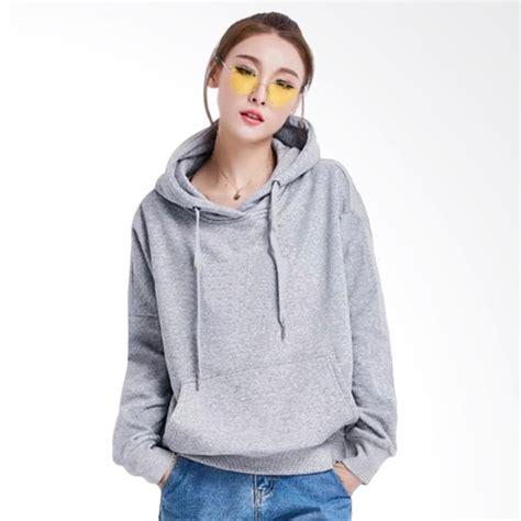 Jaket Sweater Lengan Panjang Soulmate Sleeve jual jaket carlisa variasi topi dan kantong kangguru tangan panjang hoodie sweater wanita abu