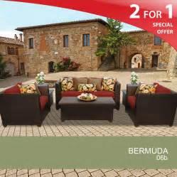 Wicker Patio Furniture Set by Bermuda 6 Piece Oversized Outdoor Wicker Patio Furniture