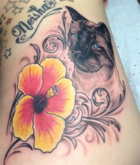 tattoo flower cat 61 best hibiscus flower tattoos images on pinterest