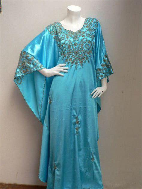Kaftan Mila Dress Busana Muslim kaftan bordir kupu biru muda penjahit kebaya