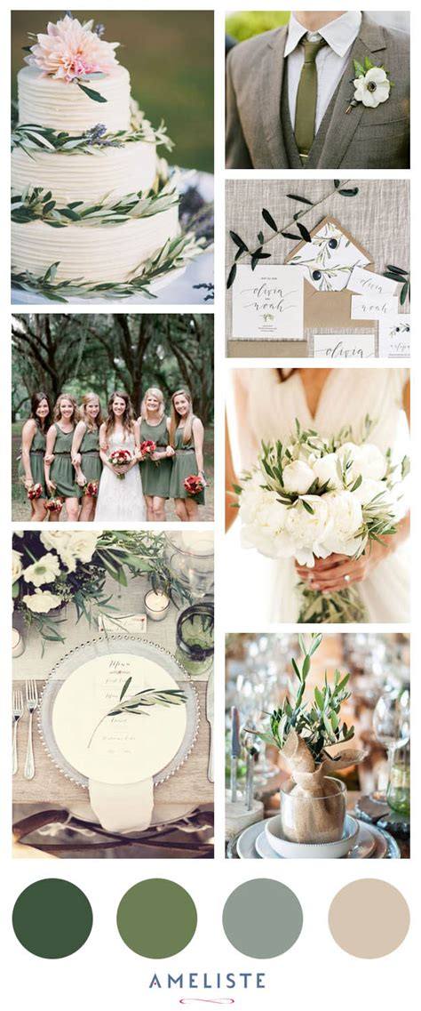 Wedding Theme Idea Green Wedding by Inspiration Mariage Mood Board Couleur Olive