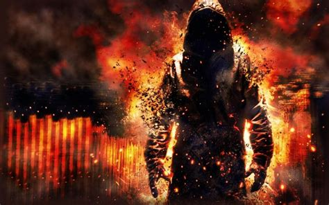 fantasy fire man artwork dreamy fantasy wallpaper