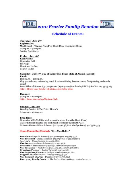 family reunion letter template free printable family reunion letters 2010 frazier