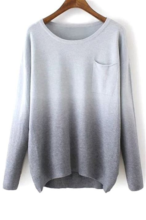 Sleeve Hoodie Greysweater sweater grey ombre fashion fall warm cozy