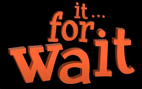 Wait For It wait for it blocky text free stock photo domain