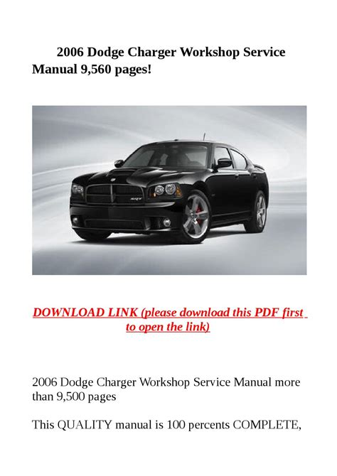car repair manuals online pdf 2008 dodge charger security system service manual pdf 2006 dodge charger engine repair manuals just car guy dodge charger