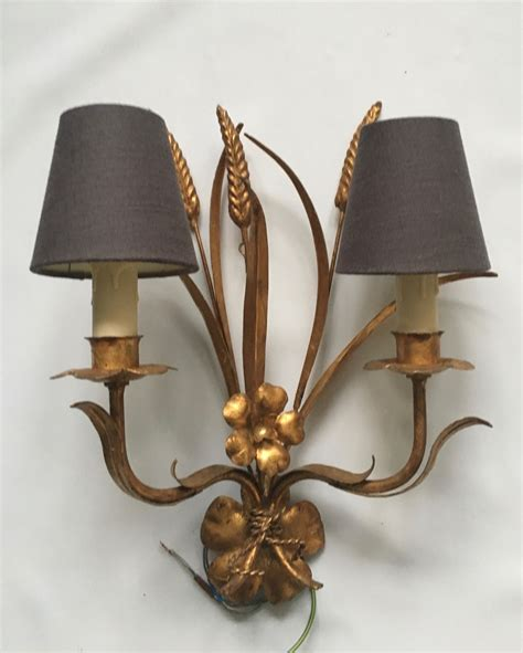 Pair Of Wheatsheaf Wall Lights The Vintage Chandelier Vintage Chandelier Company