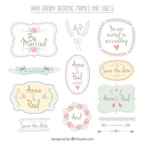 cornici per etichette disegnati a mano cornici e le etichette di nozze
