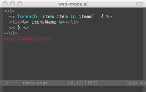 org mode templates web mode el html template editing for emacs