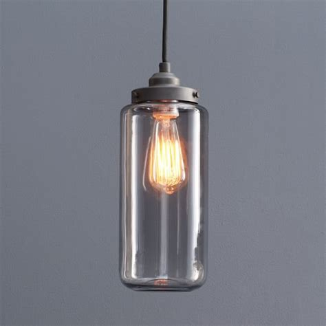 Jar Pendant Lighting Glass Jar Pendant West Elm