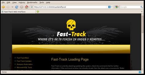 What Is Fast Track Option In Mba Program by Automate Pen Testing With Fast Track Client Side Attacks