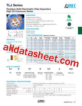 avx capacitor datasheet search 28 images noja106m006 datasheet pdf avx corporation