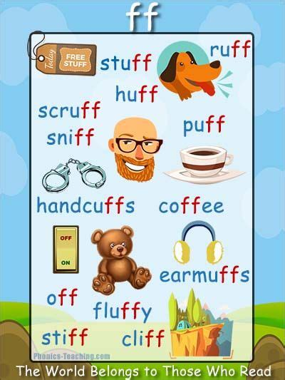 6 Letter Words With Ff In Them 263 Best Phonics Posters Phonics Phonics