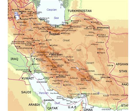 map of iran cities maps of iran detailed map of iran in tourist