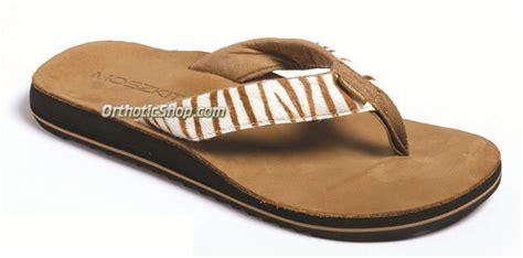moszkito sandals moszkito archy animal flip flops brown white zebra