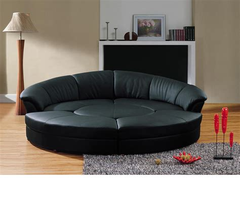 circular sectional dreamfurniture com divani casa circle modern leather