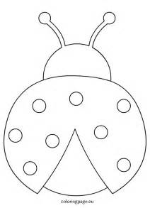ladybug outline clipart coloring page wikiclipart