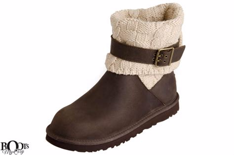 knit cuff boots ugg cassidee leather and knit cuff s boots chocolate