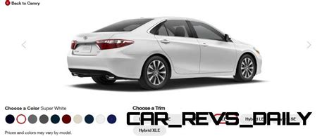 Toyota Camry Car Colors 2015 Toyota Camry Xle Colors 7