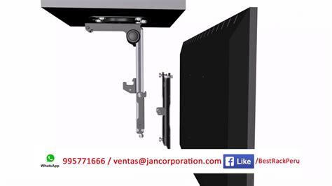 soportes para tv de techo soporte rack de techo plegable de aluminio 13 37 youtube
