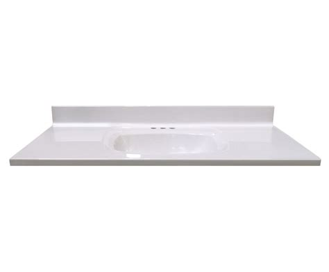 49 Inch Vanity Top by Magick Woods 49 Inch W X 22 Inch D Vanity Top In White
