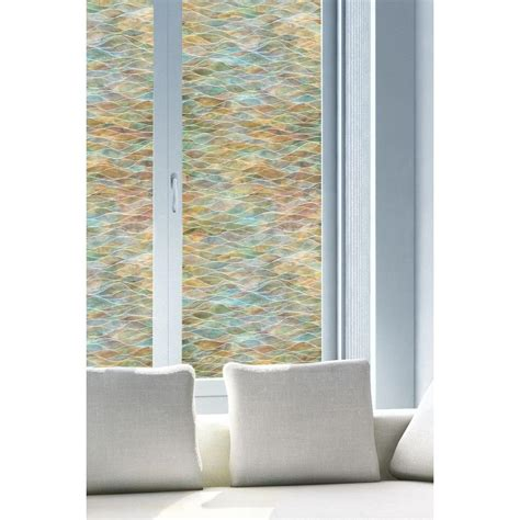 water colors decorative window film stained glass