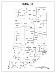 indiana labeled map