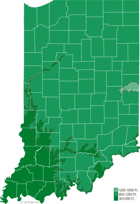 physical map of indiana indiana physical map and indiana topographic map