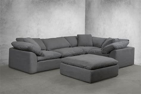sectional modular sofa sunset trading cloud puff slipcovered 5 modular sectional sofa 391094 sunset trading
