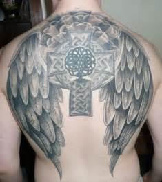 amazing celtic cross wings tattoos for men cool man tattoos